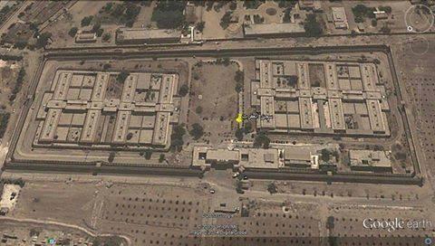صورة ملتقطة عبر القمر الصناعي باستخدام خرائط غوغل لسجن العقرب